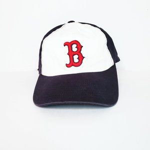 Boston Redsox Black and White Fitted Ball Cap Hat